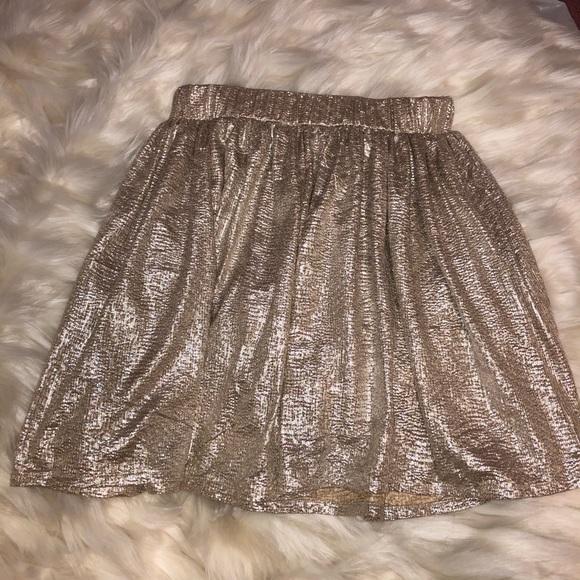 Aeropostale Dresses & Skirts - Women's Shimmery Gold Party Skirt